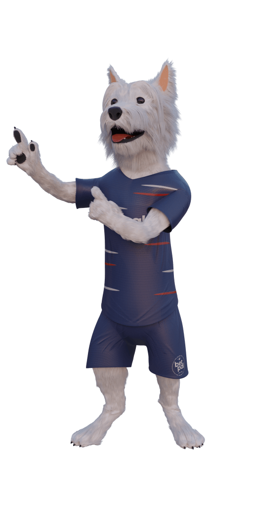 betpal mascot pointing left