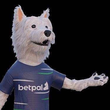 betpal mascot pointing