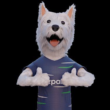 betpal dog mascot thumbs up