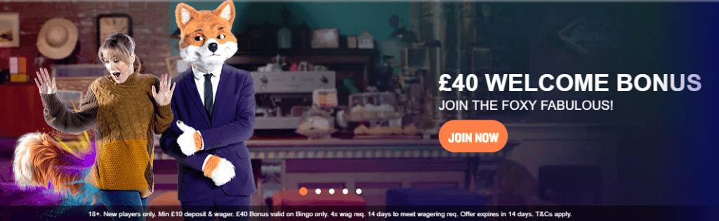 foxy bingo offer
