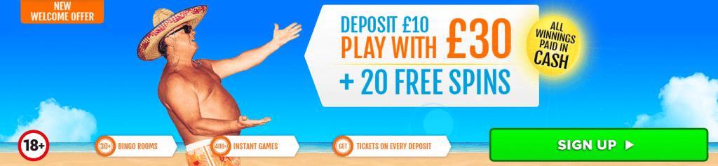 costa bingo offer