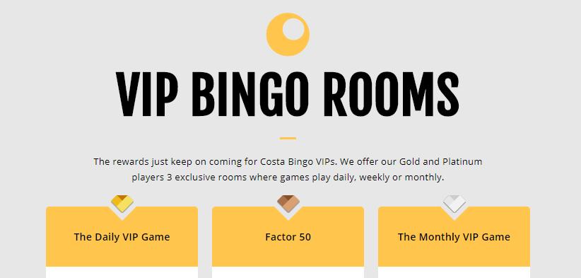 costa bingo vip