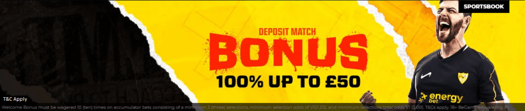 energybet welcome bonus sportsbook
