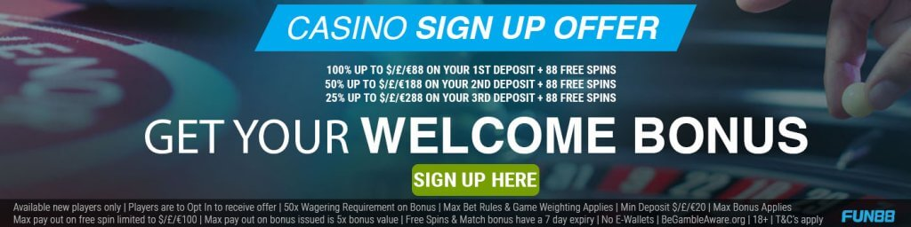 fun88 casino welcome bonus