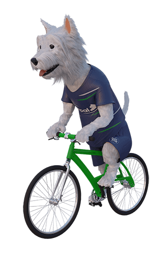 betpal mascot riding a bike