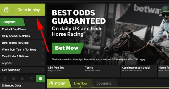 Best Odds Guaranteed betway