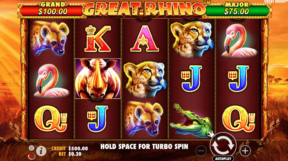 great rhino slot game