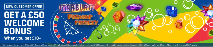 coral casino welcome offer banner