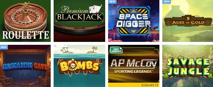 coral casino games