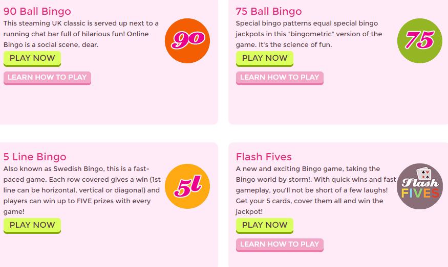 bingo games at 888ladies