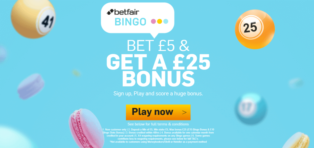 betfair bingo bonus