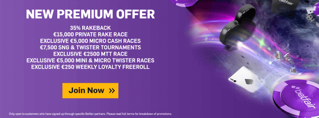poker bonus betfair