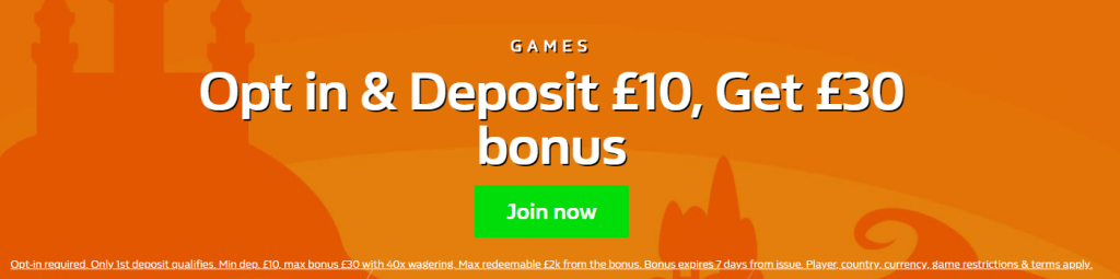 william hill games bonus offer