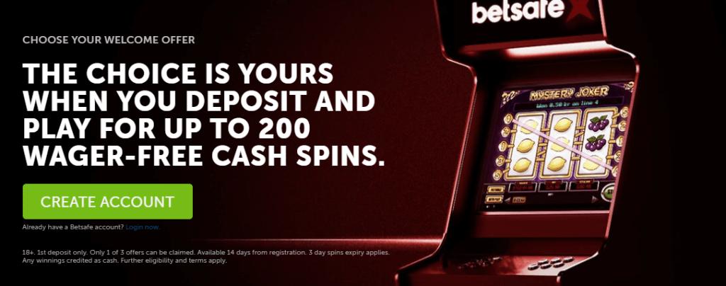 betsafe casino offer