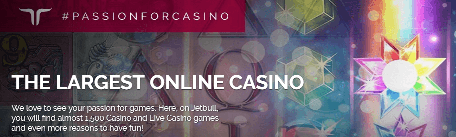the largest online casino banner