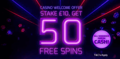 casino welcome offer betfred