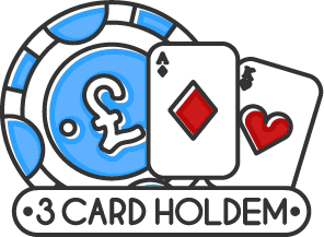 3 card holdem poker icon