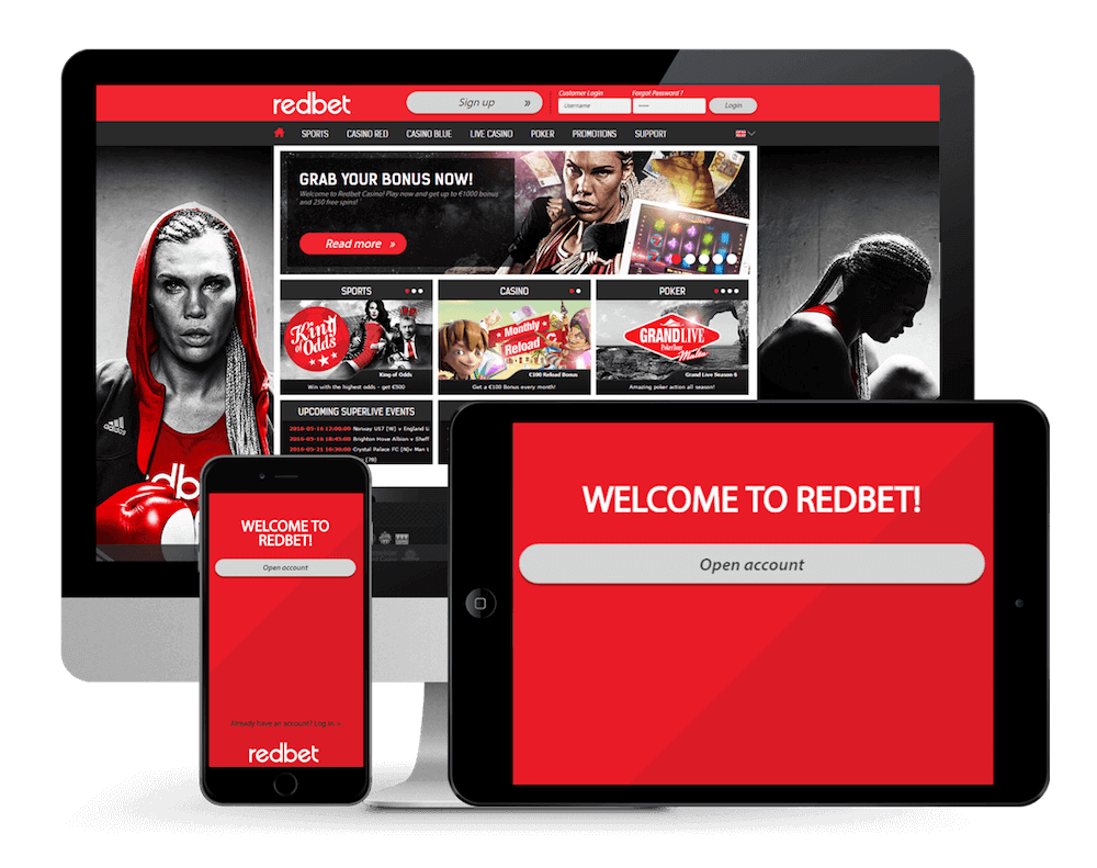 redbet mobile devices