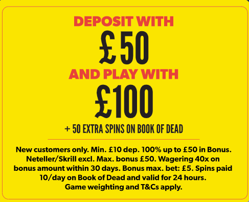rizk welcome bonus deposit 50 play with 100