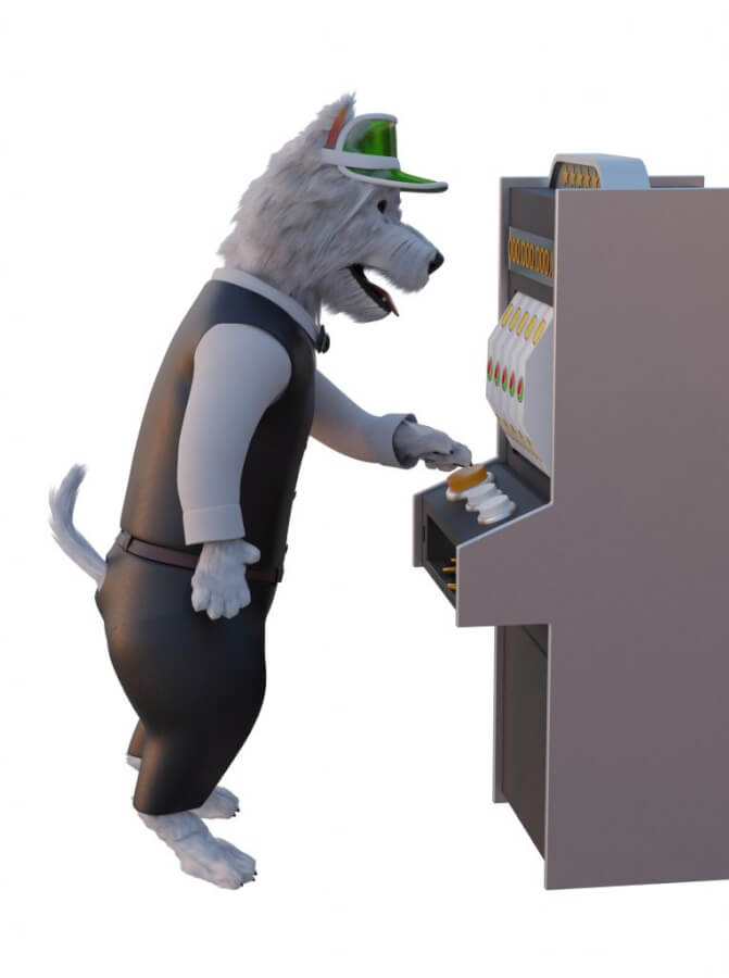 betpal dog mascot playing slot games