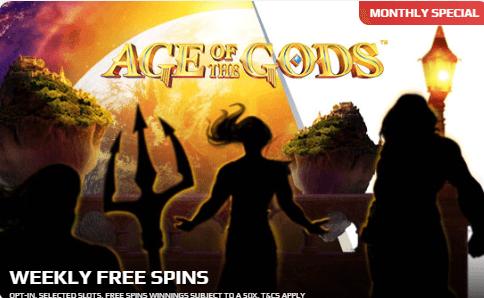 netbet age of gods promo