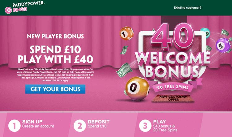 paddypower bingo welcome offer