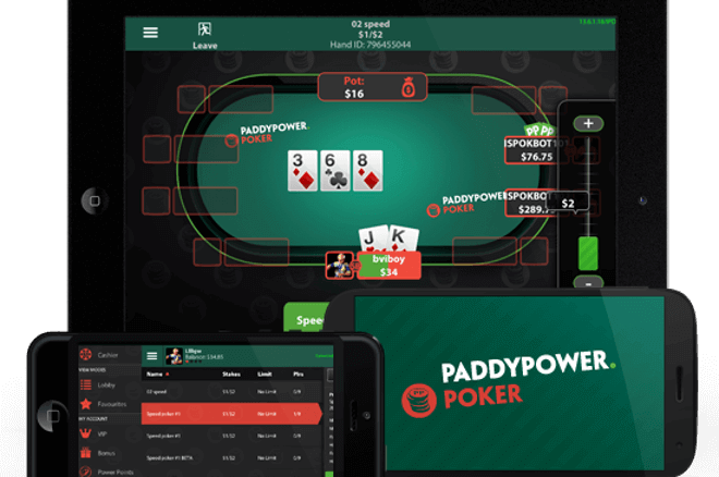 paddypower poker app mobile