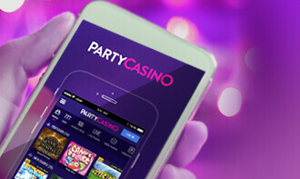 party casino mobile device
