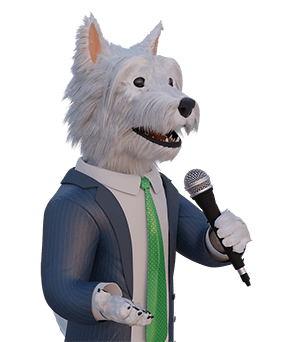 betpal mascot with a microphone
