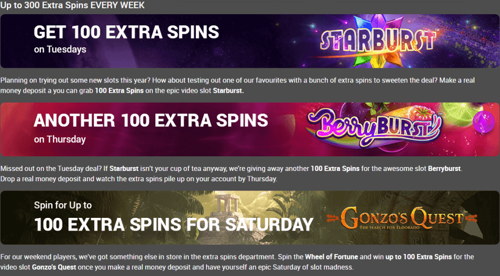 300 free spins every week tonybet