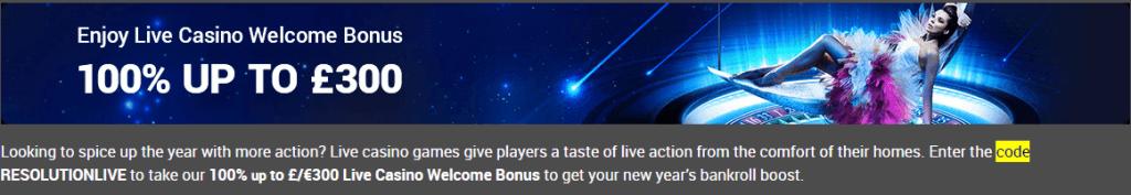 tonybet live casino offer