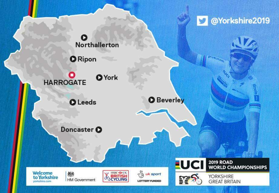 2019 UCI Road World Championships host locations