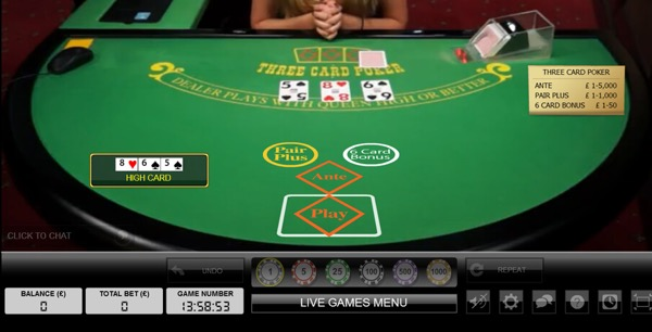 3-Card Hold'em Poker Online