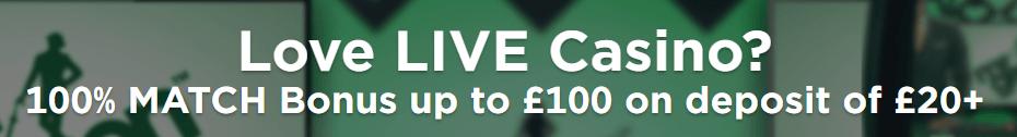 Mr Green Live Casino Offer