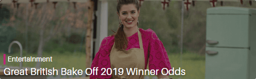 great british bake off winner odds