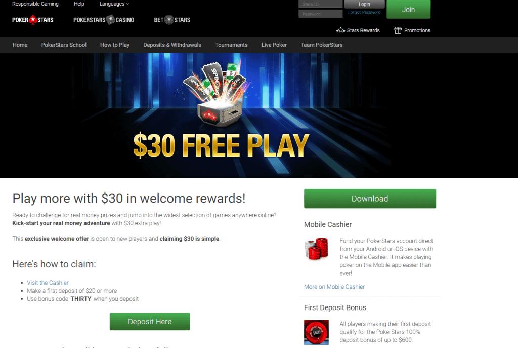 pokerstarz bonus