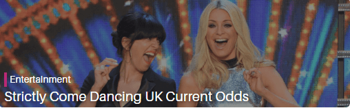 strictly come dancing current odds