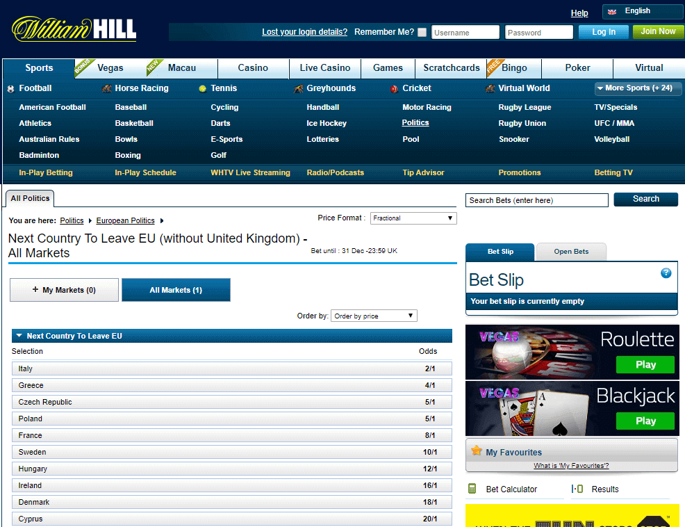 william hill politics