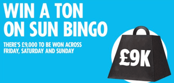 sunbingo win a ton of bingo