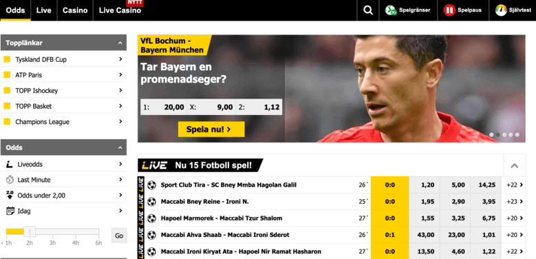 Interwetten Sports hemsida