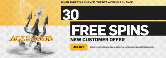 betfair 30 free spins