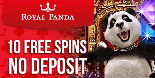 royal panda spins no deposit
