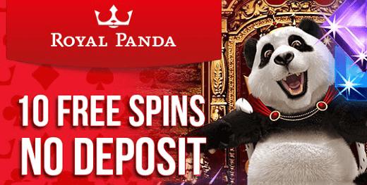 royal panda spins no deposit