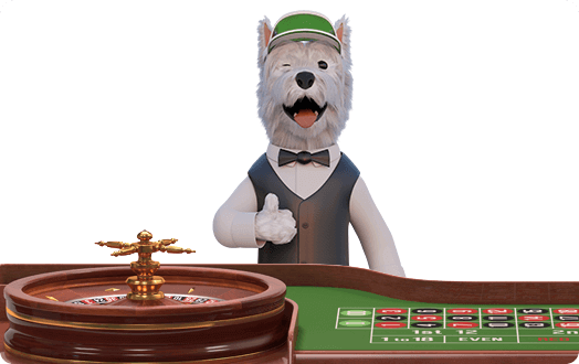 betpal mascot playing roulette