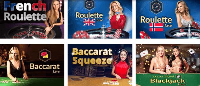 CampeonUK Casino - example of live dealer games