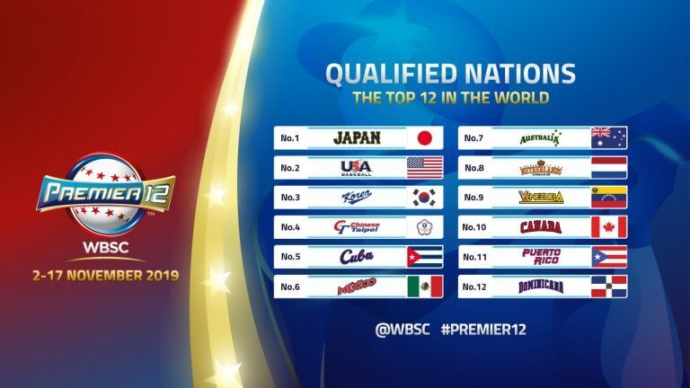 wbsc qualified nations 2019