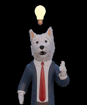 betpal dog mascot with idea