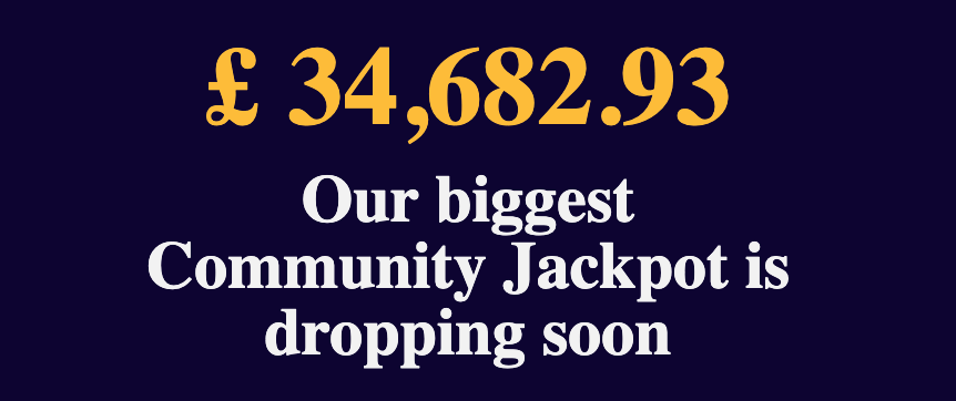 biggest community jackpot at party casino is dropping soon