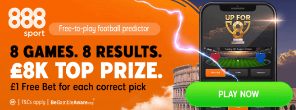 8 games 8 results 888 sport promotion banner