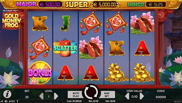 gold money frog slot game
